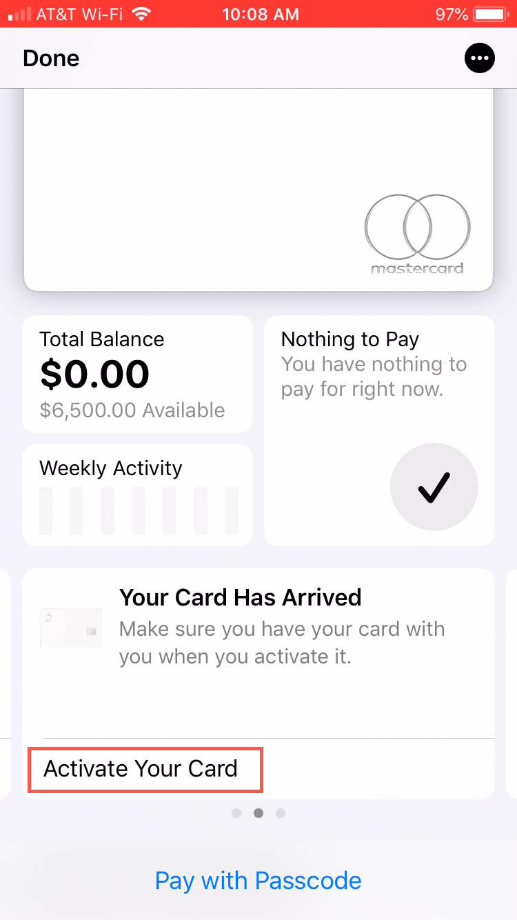 Activate Your Card Wallet App