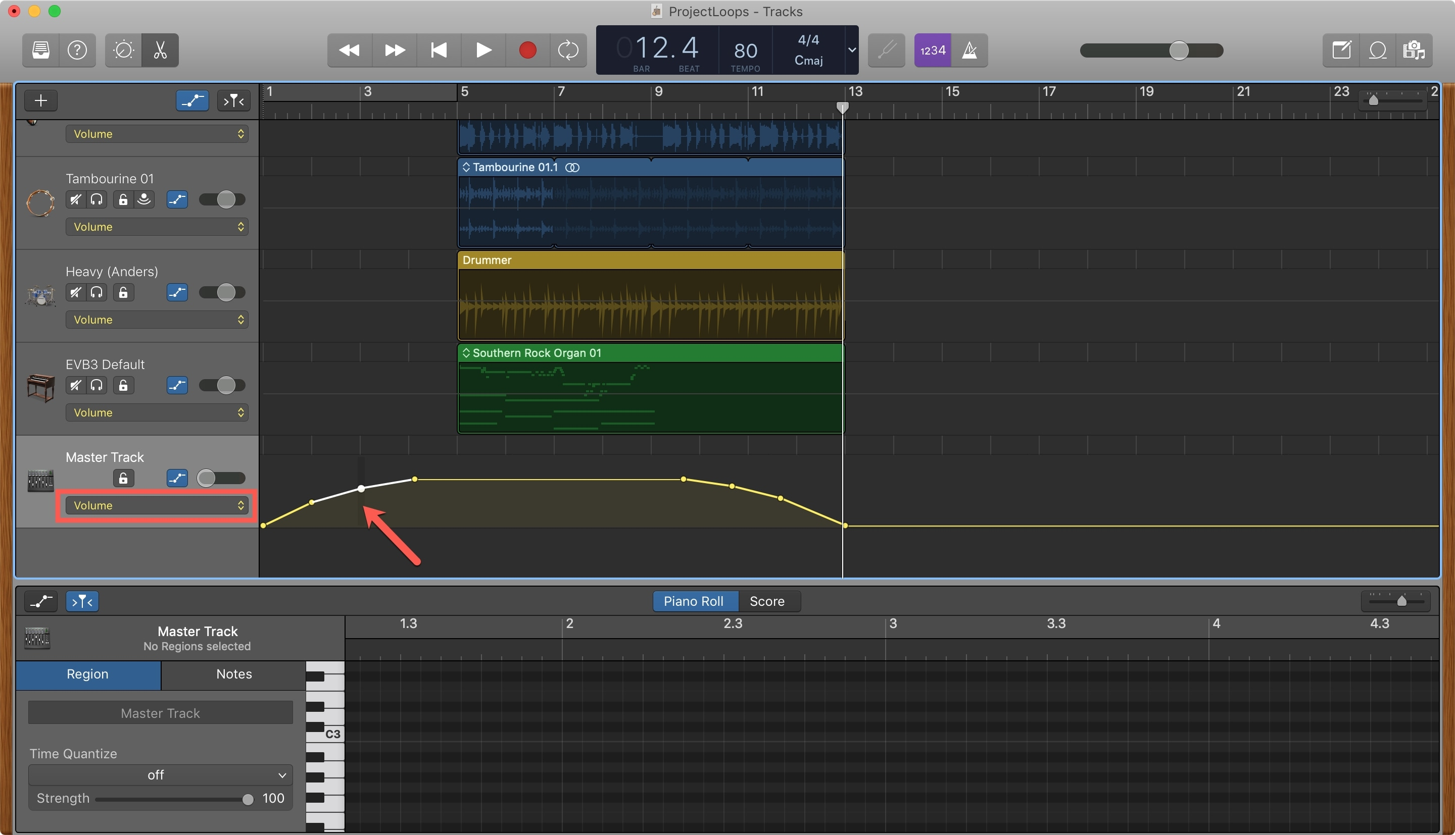 Create Fade In GarageBand Mac
