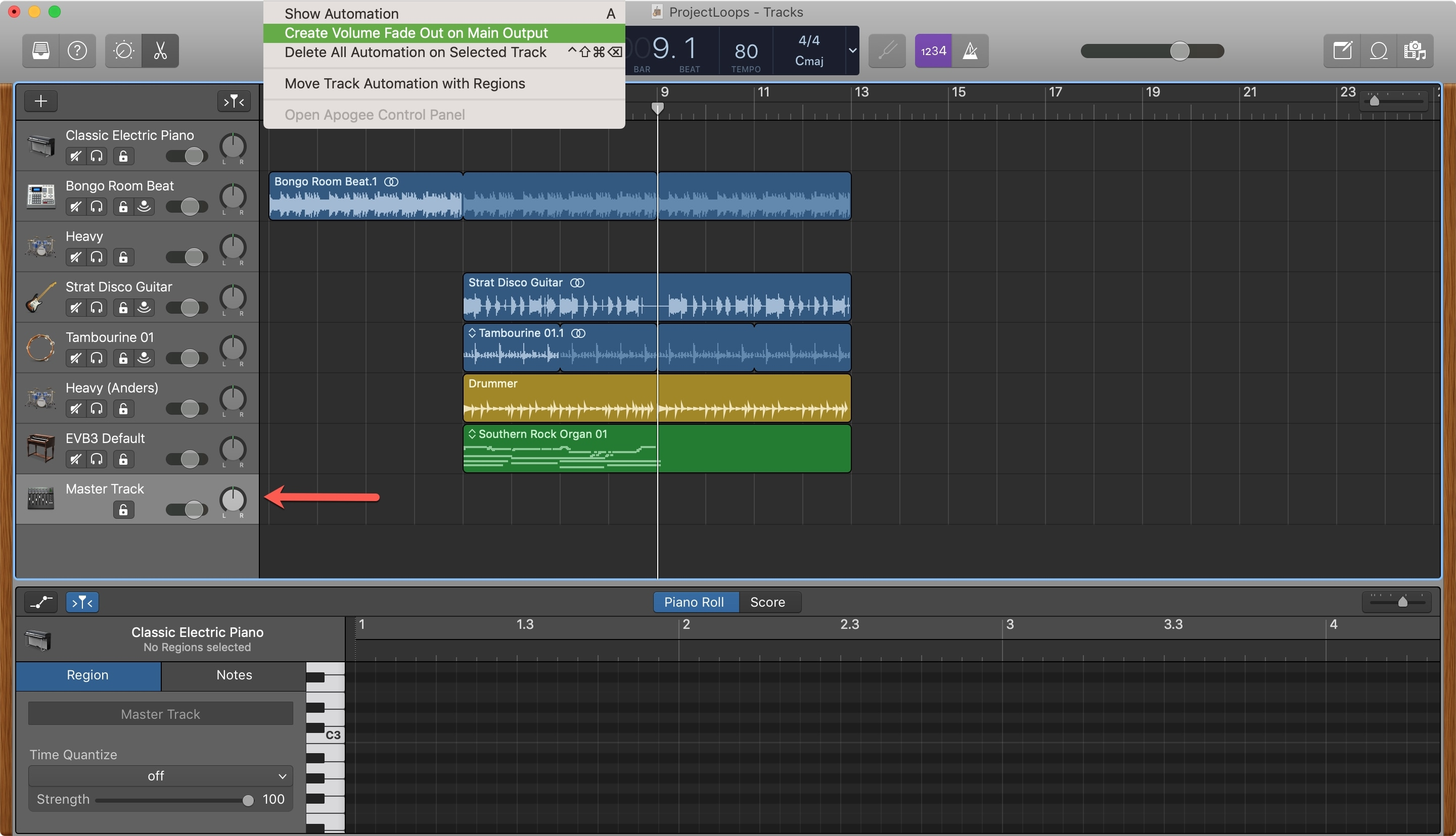 Create Fade Out Automatic GarageBand Mac