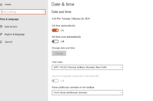 Update date and time