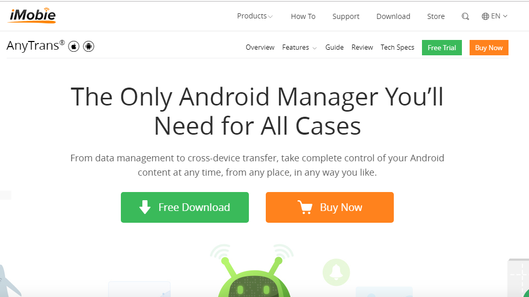 Android Management Made Easy With AnyTrans For Android