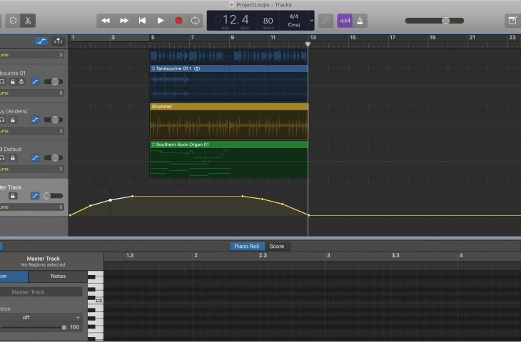 How to add fade in and fade out to songs in GarageBand