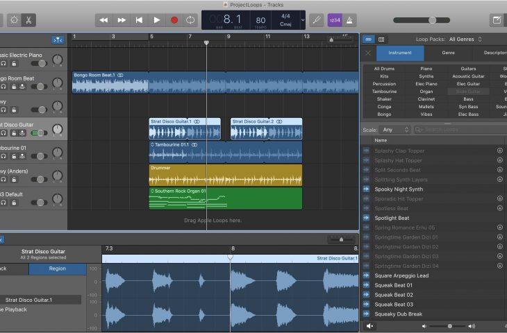 How to work with Regions in GarageBand on Mac and iOS