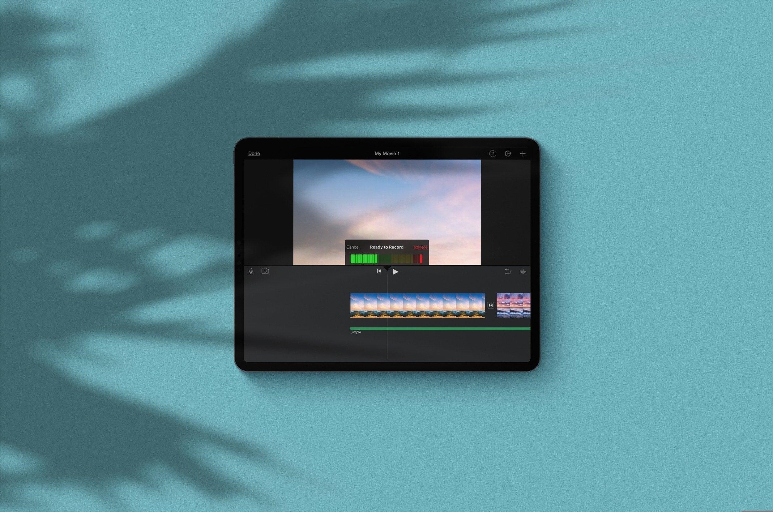 Start Recording Voiceover iMovie iPad