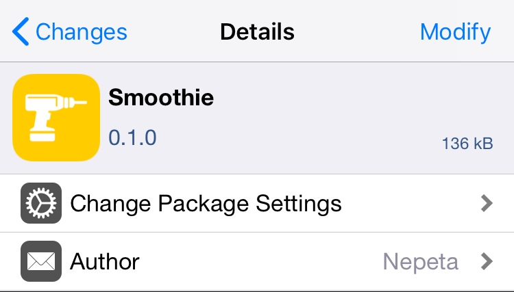 Smoothie removes the 'paging' effect when navigating the Home screen