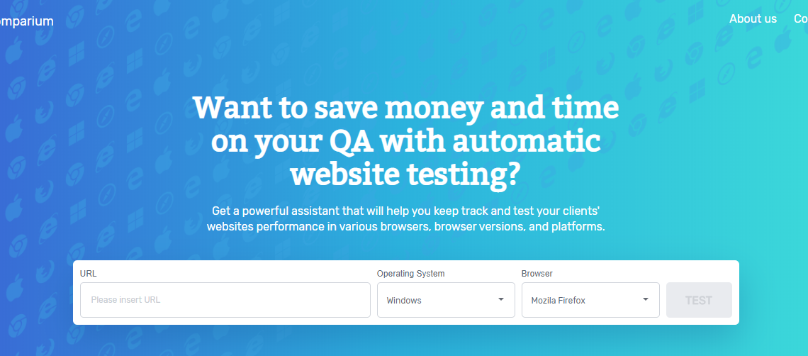 Comparium : Automated Website Testing Tool