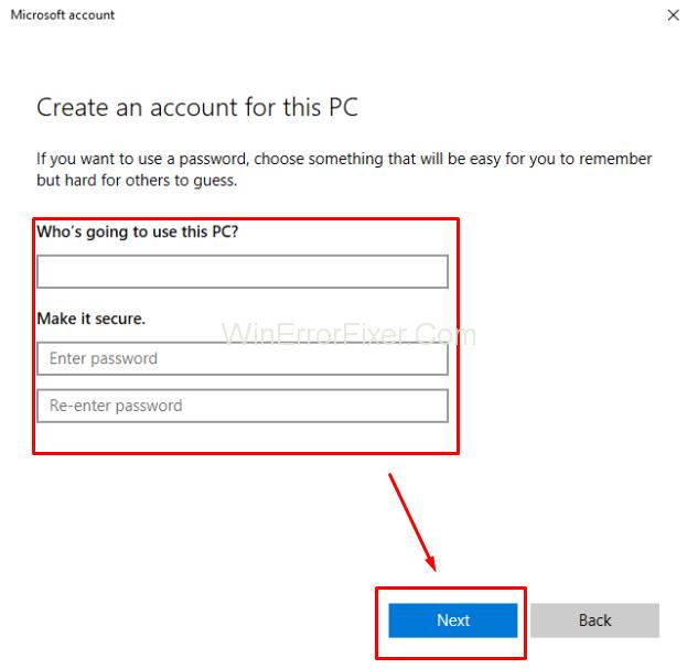 create local user account in windows 10