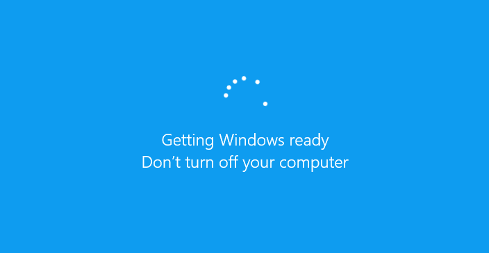 Getting Windows Ready, Don't Turn off Your Computer