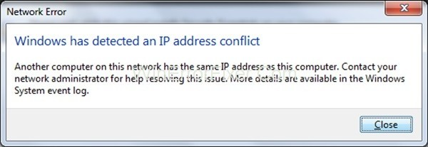 Windows has Solved An IP Address issue {Solved}