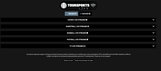 YourSports - Best Sports Stream Sites